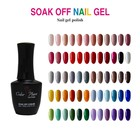 High quality 24 Colors Private Label No Smell Full Cover Soak Off Cheese UV Gel Nail Polish