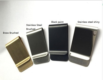 Metal souvenir shiny stainless steel blank money clip