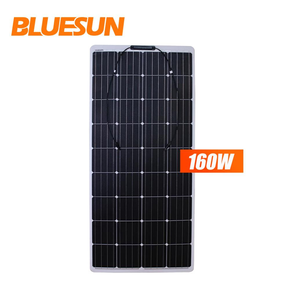 Bluesun 50 W 80 W 160 W flexible solar panel 300 w beste cigs solar panel flexible für verkauf