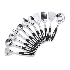 Amazon Hot Sale 11PCS Nonstick Durable Stainless Steel Kitchen Utensils Set Cooking Tools
