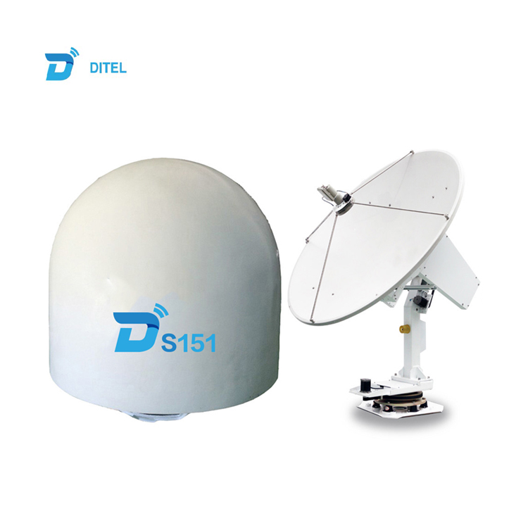 Ditel S151 C Band Ku Band 150cm Dish 3 Axis Gps Marine Internet Satellite  Tv Antenna Receiver Digital Outdoor For Boat - Buy Internet Satellite