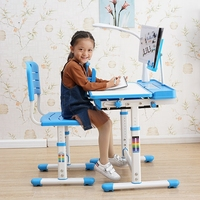 2019 new high quality hot sales Plastic and Metal kid study desk chairs for students made in CHINA Adjustable Kids Study Desk