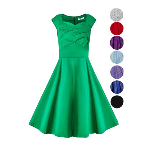 '50 rockabilly pinup abbigliamento abiti retro vintage style prom swing dance dress