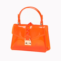 Candy Color Ladies Designer Handbags Cross Body Bags Women Jelly Transparent Bags