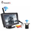 Podofo Wireless Car Vehicle Backup Camera Monitor Parking Assist System IR Night Vision Waterproof Rear View Camera for RV Bus