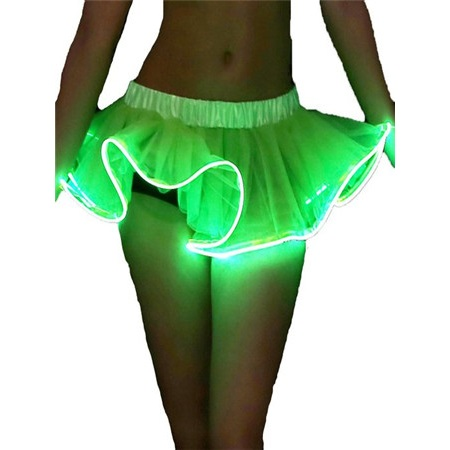 Led ışık up organze etek mini elbise dans led ışık up tutu, toptan led ışık up Petticoat etek