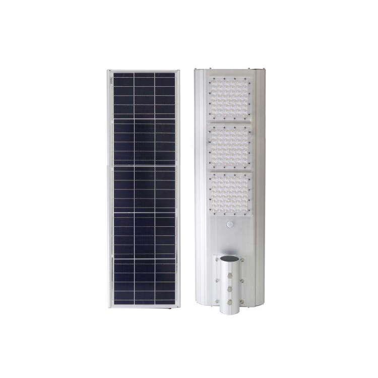 High power <strong>light</strong> control + body induction 50w 100w 150W intelligent smart integrated all in one solar street <strong>light</strong>