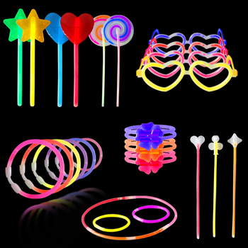 Glow Sticks Jewelry Bulk Party Favors Glow in the Dark Party Supplies, Neon Party Glow Necklaces and Bracelets