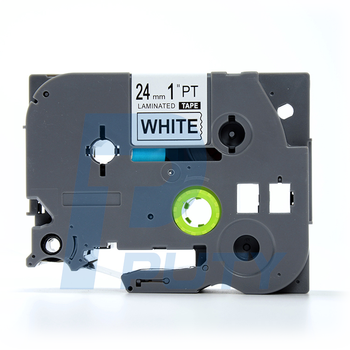 Puty hot sale 24mm TZ2-251 Compatible tze label tape Black on White for P-Touch Handheld Label Printer