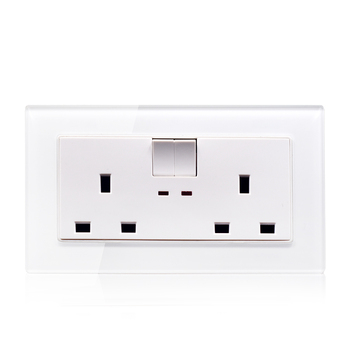 Luxury British standard wall electrical light switch socket