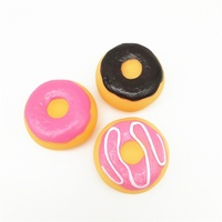 best selling soft plastic Sound simulation donut pet rubber toys