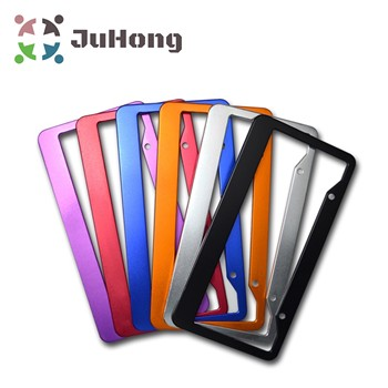 High Quality USA Standard New Customized Plastic/Stainless steel/Zinc alloy Car Number  License Plate Frame/holder