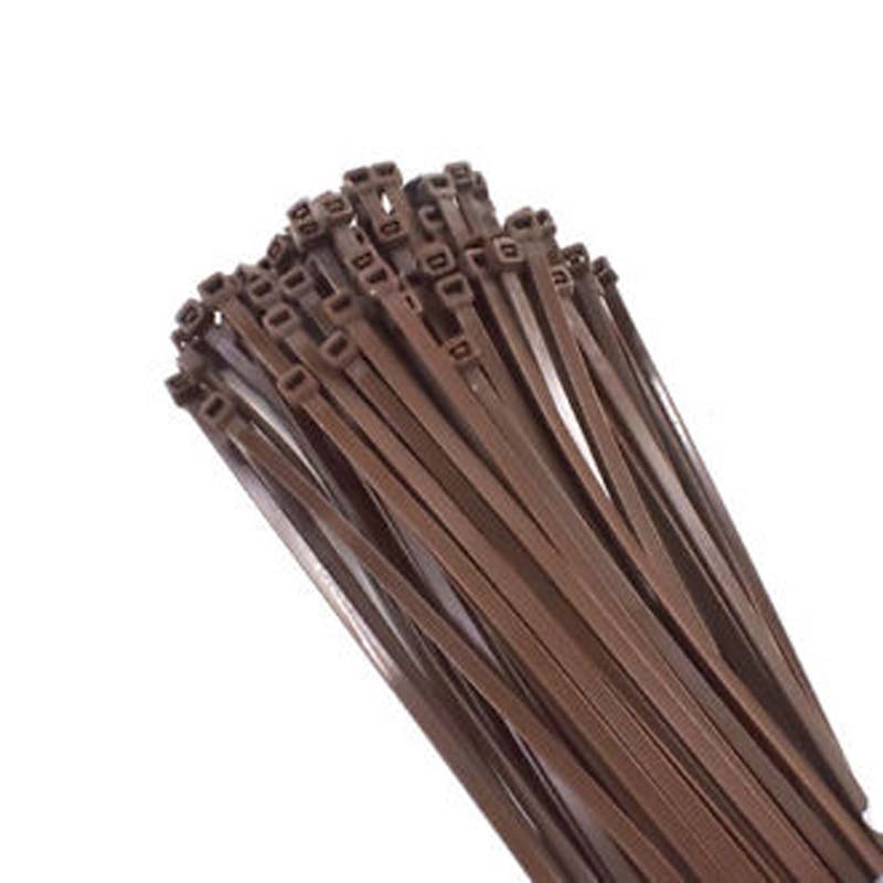 Miniature 18 LB 4 Inch Brown Indoor Nylon Self-locking Polyester Cable tie