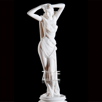 Custom high quality hand carved stone lady statue sculpture