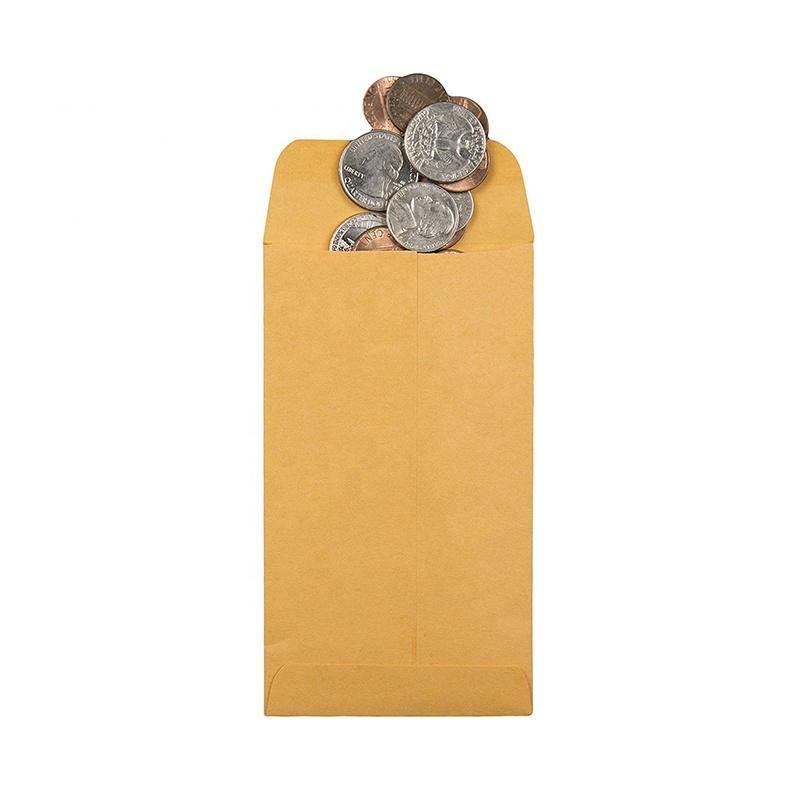 100-#1 Gold Kraft Bank//Key//Gift Card Holder Protector Sleeve Envelope 2.25 x 3.5