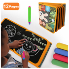 Reusable Educational Toy Kids Soft Erasable Baby Magic Cloth Painting Drawing Chalk Board Coloring Book