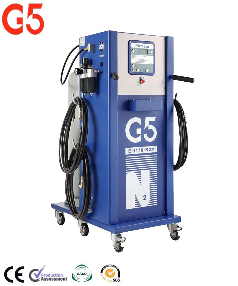 Sistema de purga de nitrógeno, inflador de generador de nitrógeno, máquina N2, Inflador de neumáticos G5 completamente automático para la pintura del coche, autobús zhuhai psa