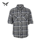 Factory supplier custom made popular long sleeve checked flannel shirt 100% cotton