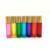 Migpack cosmetic rainbow color matt esstinal oil glass roller on bottle with color screw lid