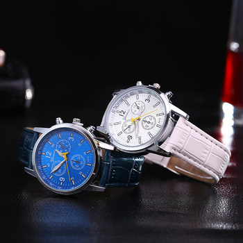 Wish explosion ladies belt watch three eyes casual men and women students quartz watch female models