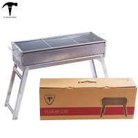 Trade Assurance Supplier China camping folding portable stainless steel barbecue bbq charcoal grill outdoor