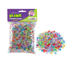 ZF94 diy slime kit Mixed Color Fishbowl crystal bead slime flat plastic beads DIY Making Crafts plastic pearl for kids