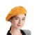Winter custom high quality embroidered Women Lady 100% Wool cashmere plain yellow French Berets