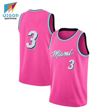 Heißer Verkauf Miami <span class=keywords><strong>Basketball</strong></span> Jersey Dry Fit Stoff Gedruckt Gewohnheit Jersey Für <span class=keywords><strong>Basketball</strong></span>