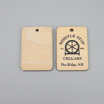 natural brown color high quality custom wood hang tag with  logo