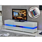 Hot sales factory directly wood led light tv stand
