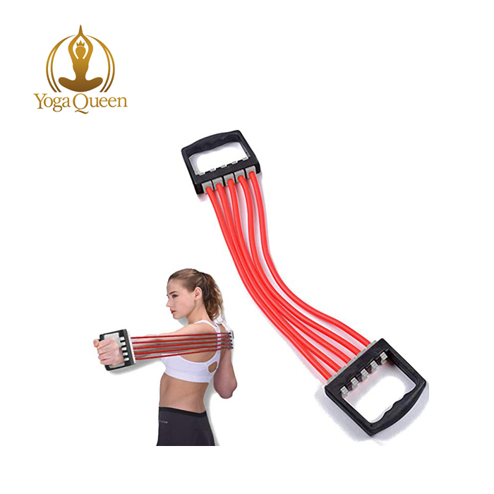 Einstellbare Brust Expander 5 Seile Widerstand Übung System Bands Festigkeit Trainer für Home Gym Muscle Training Exerciser