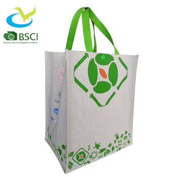 Customize  Eco Friendly supremarket shopping linen tote bag