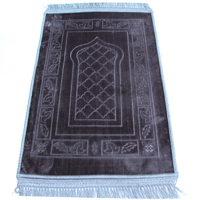 Jewelry & Watches Lovely Muslim Prayer Rug Polyester Portable Braided Mats Simply Print With Compass In Pouch Travel Home New Style Mat Blanket 100*60cm Exquisite Traditional Embroidery Art