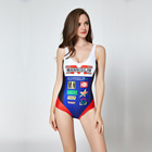 Sexy one piece swimsuit ladies thin student sports swimwear