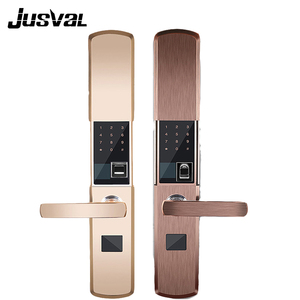 Luxury fingerprint door lock container key furniture door knob safety hotel card lock