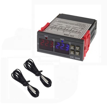 Dual Digital Temperature control Controller STC-3008 Two Relay Output Thermostat 12V AC 110-220V 10A STC-3018
