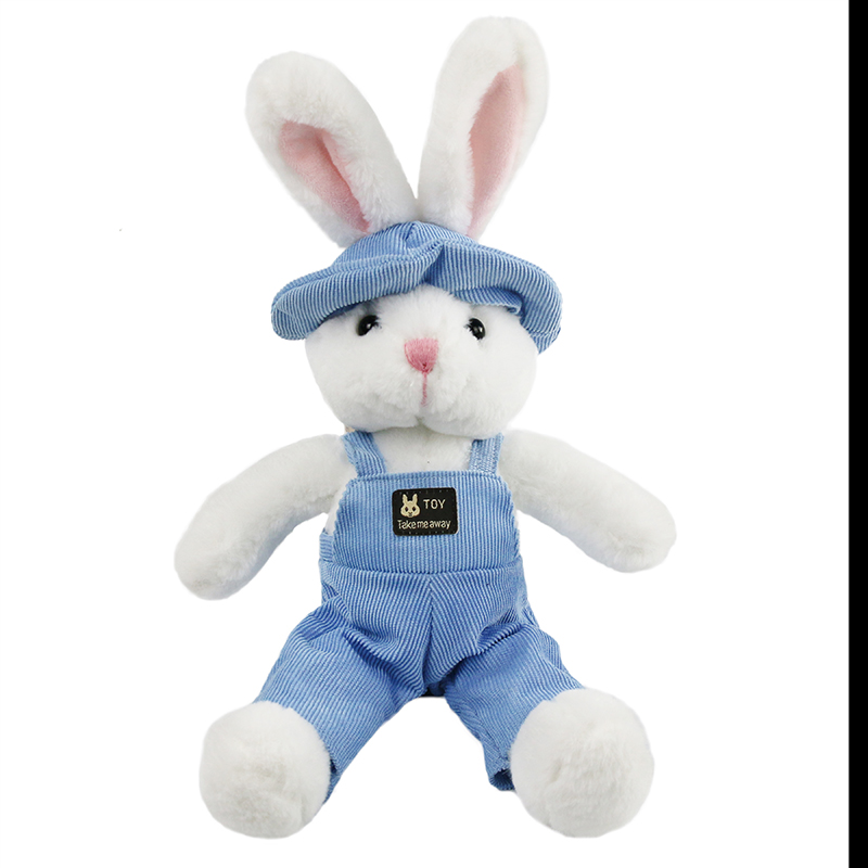 Adorable Bunny Stuffed Animal Easter Plush Bunny <strong>Rabbit</strong> with Removable Cloth Easter Gifts