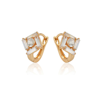97380 xuping Korean design hight quality gold plated elegant charm diamond earring jewelry