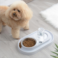 Wholesale New Design Pet Food Water Feeder Stainless Steel Pet Bowl Automatic Drinking Bottle