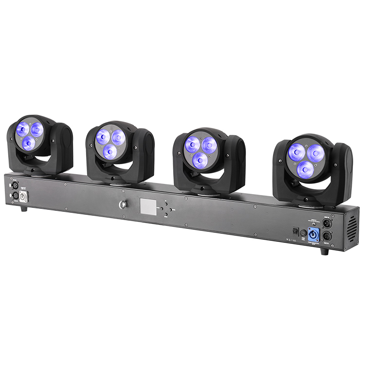 Marslite dmx 12 pcs 10 W RGBW 4in1 led dj luci di bar di rotazione led wash luce in movimento della testa