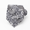 Brand Name Black Flower Mens Polyester Ties Manufacturer
