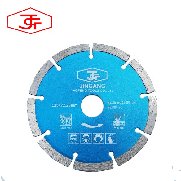 5 inch 125mm segmented diamond saw blades for cutting granite marble