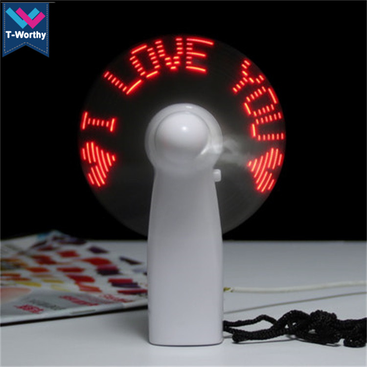 Promotional Summer Gifts Creative Handle Held Customized Battery Operated Mini LED <strong>Fan</strong>
