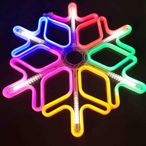 outdoor christmas decoration led neon snowflake motif light holiday lighting with meteor effect