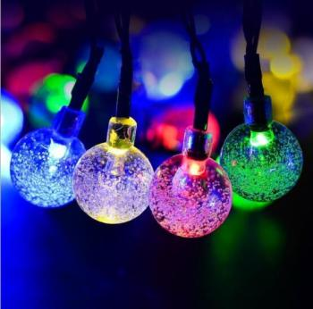 outstanding patio balcony festival decoration Commercial bubble globe mini ball string light