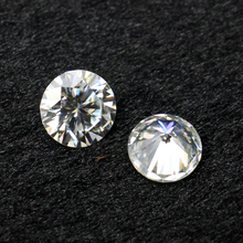 Sparkly loose round moissanite the closest artificial gem to a diamond
