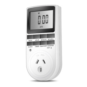 7 Day / 24 Hour Programmable Digital Weekly Light Switch Timer Plug for Electrical Outlet with Anti-theft Random Option