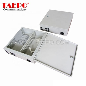 Outdoor wall mount SC 24 fibers 48 fibers FTTH terminal Fiber Optic Distribution box for Telecommunication