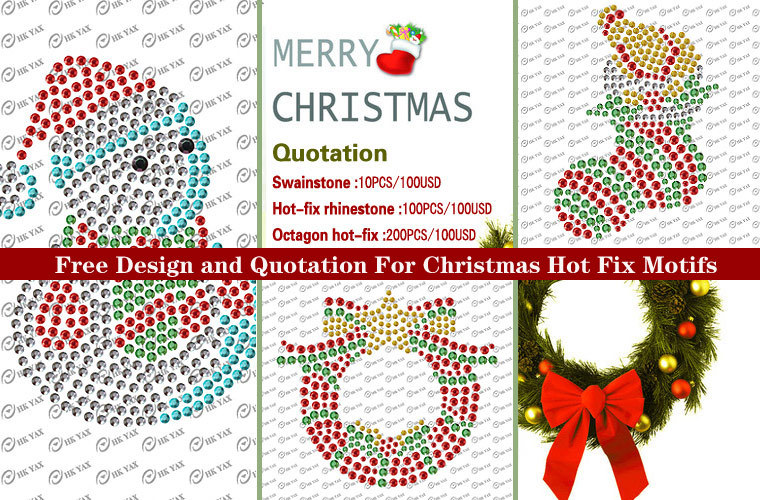 0319W transfer strass rhinestone nailhead  Christmas iron on transfer,iron on heat transfer sticker,custom iron on heat transfer