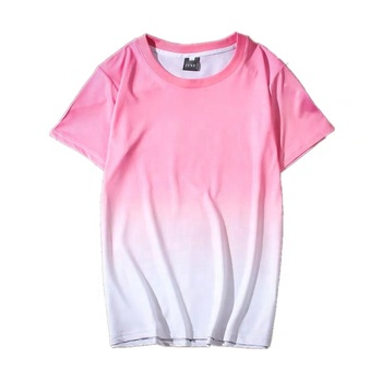 Custom gradient dyeing dip dye hip hop t-shirt men cotton tshirt oversized mens tshirt with your own designs